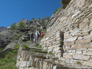 les beaux sentiers maçonnés à sec, Parc National